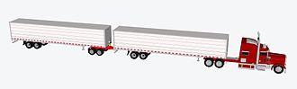 Long combination vehicle - 53 foot turnpike double