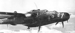 "548th Combat Training Squadron - 548th NFS P-61A Black Widow 42-5609, ""Bat outta Hell"""