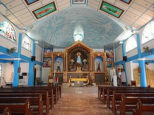 Doña Remedios Trinidad, Bulacan - Interior of Nuestra Señora de Lourdes Parish Church