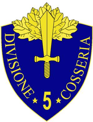 5th Infantry Division Cosseria - 5th Infantry Division Cosseria Insignia