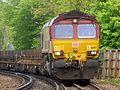 66137 Dollands Moor to Scunthorpe 4e26 empty steel (26401302083).jpg