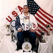 Most Decorated GR Wrestler in USA History - 1992 Olympic Picture with all World Cups and Medals