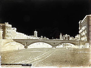Collodion process - 1867. Collodion wet plate process. GERONA.- Puente de Isabel II. Ministry of Education, Culture and Sport (Spain).