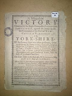 Capture of Wakefield Engagement of the First English Civil War