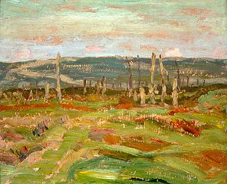 German attack on Vimy Ridge, 21 May 1916 - A.Y. Jackson: Vimy Ridge from Souchez Valley
