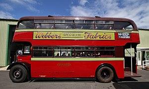 Long Hanborough - 1950 AEC Regent III bus at Oxford Bus Museum, next to Hanborough railway station