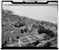 AERIAL VIEW FROM THE NORTH - Lyndhurst, Greenhouse, 635 South Broadway, Tarrytown, Westchester County, NY HABS NY,60-TARY,1B-30.tif