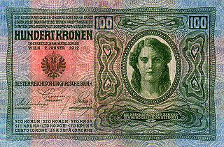 Austro-Hungarian krone currency of Austria-Hungary between 1892 and 1918