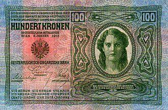 Austro-Hungarian krone - Image: AHK 100 1912 obverse
