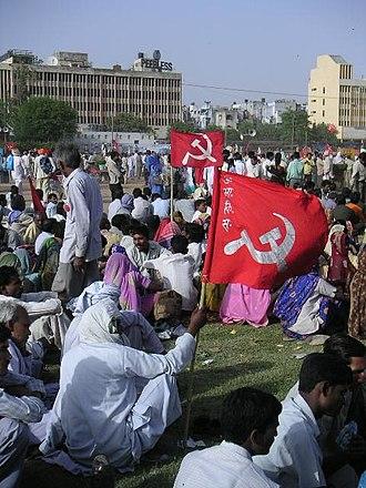 All India Kisan Sabha (Ashoka Road) - AIKS demonstrator in Delhi