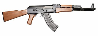AK-47 - AK-47 Type 3A with ribbed stamped-steel magazine