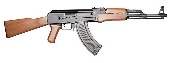 The AK-47, one of the most widely produced and used assault rifles in the world. AK-47 assault rifle.jpg