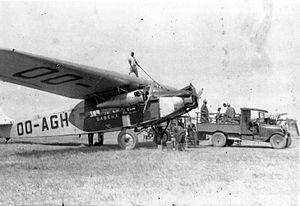 Sabena - A Fokker F.VII in Sabena colours