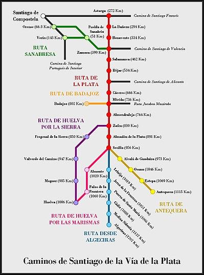 Camino de Santiago de la Plata - Wikipedia, la enciclopedia libre