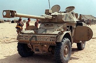 Panhard AML - Iraqi AML-90 abandoned during Operation Desert Storm.