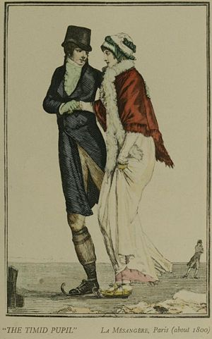 Illustration showing fashion throughout the ce...