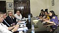 A European Union Delegation calling on the Union Minister for Women and Child Development, Smt. Maneka Sanjay Gandhi, in New Delhi.jpg