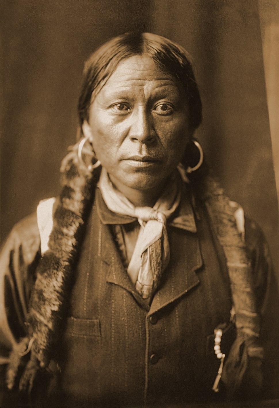 A Jicarilla Man, 1904, Edward S. Curtis (sepia restored)