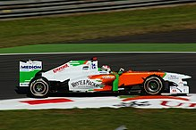 Photo d'Adrian Sutil à Monza en 2011