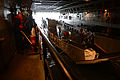 A U.S. Navy landing craft utility enters the well deck of the amphibious transport dock ship USS Mesa Verde (LPD 19) in the Atlantic Ocean Dec. 15, 2013 131215-N-BD629-060.jpg