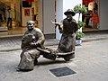A bronze sculpture on the street, Xiamen, China.JPG