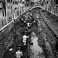 A canal in Venice being drained and cleaned using a Decauville railway.jpg