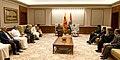 A delegation led by the Speaker of the Sri Lankan Parliament, Mr. Karu Jayasurya calling on the Prime Minister, Shri Narendra Modi, in New Delhi on September 10, 2018.JPG