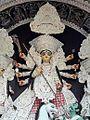 A traditional representation of Maa Durga from a Durga Puja pandal in Kolkata.jpg