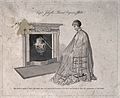 A woman covered in an oiled silk cloak with a vapour machine Wellcome V0016687.jpg
