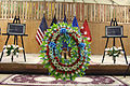A wreath sits during a Memorial Day ceremony May 27, 2013, at Kabul International Airport in Kabul, Afghanistan 130527-A-VC572-559.jpg