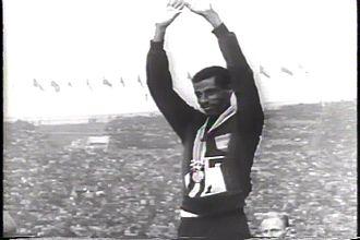 Athletics at the 1964 Summer Olympics – Men's marathon - Image: Abebe Bikila 1964 Olympics