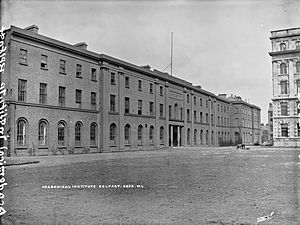 Royal Belfast Academical Institution - View of the Institute, circa 1910