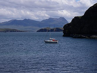 Priest Island - Priest Island beneath Ben Mor Coigach.