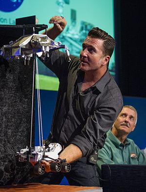 Adam Steltzner - Steltzner demonstrates the Curiosity sky crane landing system