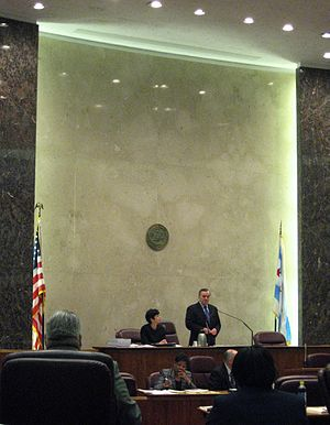 Chicago City Council - Richard M. Daley in Chicago City Council chambers in 2008