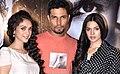 Aditi Rao Hydari, Randeep Hooda and Sara Loren promote MURDER 3.jpg