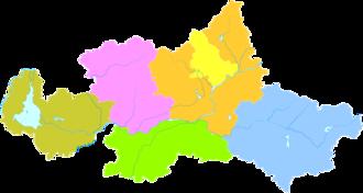 Tai'an - Image: Administrative Division Tai'an