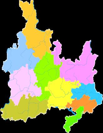 Tongren - Image: Administrative Division Tongren