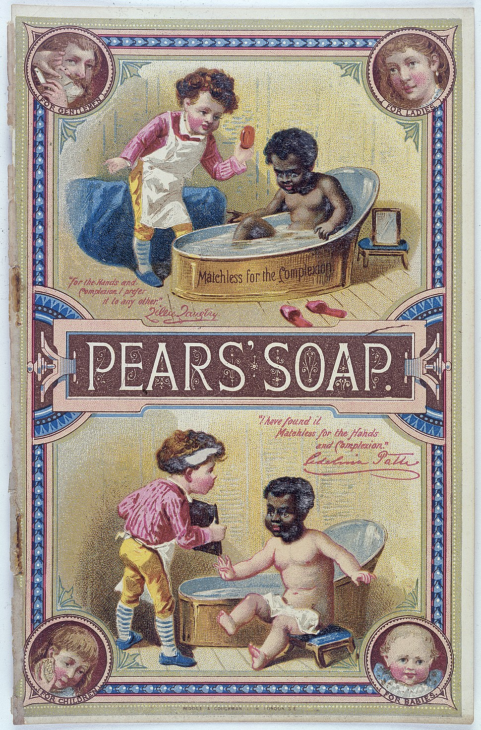 Advert for Pears' Soap Wellcome L0030380