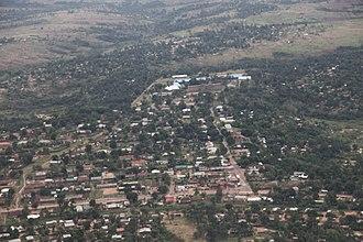 Kananga - Kananga seen from the air, 2012