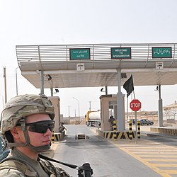 Port of entry at Sher Khan Bandar in Kunduz Province of Afghanistan, near the border with Tajikistan