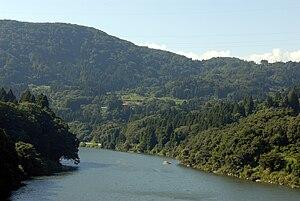 Agano River - Agano River near Kitakata