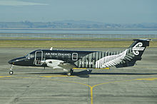 Air New Zealand Link Beech 1900D Airliner; ZK-EAK@AKL;11.07.2012 662bf (7840657674).jpg