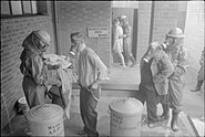 Air Raid Precautions on the British Home Front- the work of the Gas Cleansing Centre, Wandsworth, London, England, 1941 D3919