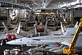 Aircraft in the hangar bay of USS Theodore Roosevelt CVN 71.jpg