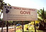 Airfield Gove World War II sign.jpg