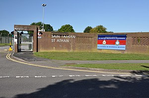MOD St Athan - One of several entrance gates to MOD St Athan.
