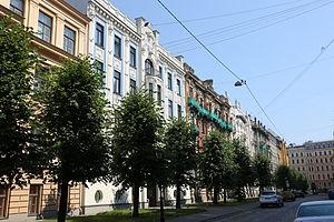 Albert Street, Riga - Image: Alberta ielā 8 to 2 20120728 1