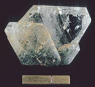Albite - Albite from Crete, scale = 1 in.