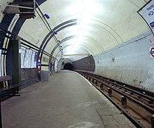 View along platform in 1994.